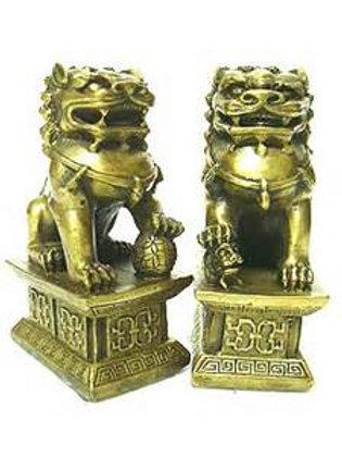 Guardians Fu Dogs Brass