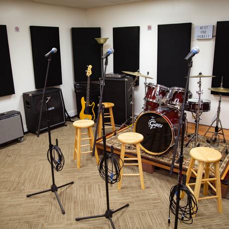 Studio B backline and mics