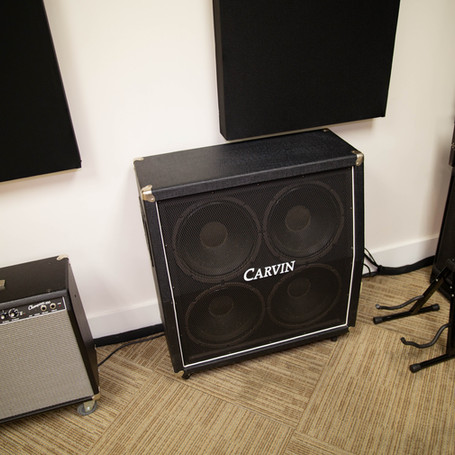 Fender 2x12 combo amp and Carvin 4x12 half stack