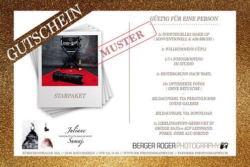 Gutschein, Starpaket, inkl. Make-up, mehrere Varianten, Berger Roger Photography, Juliane Sumaj Make-up Artist