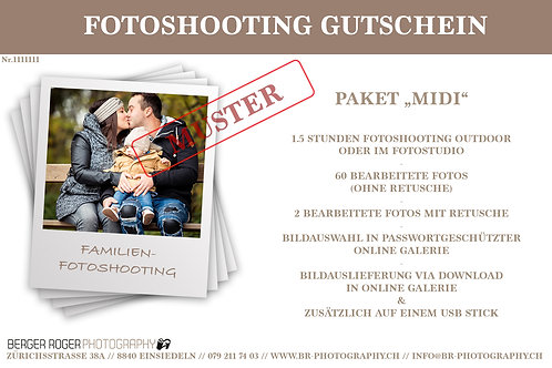 """Gutschein Familienfotoshooting-Paket """"Midi"""""""