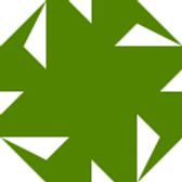 Green geometric logo with white triangles in it.