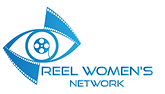 Reel Women's Network logo in blue with an eyeball as a film reel next to it.