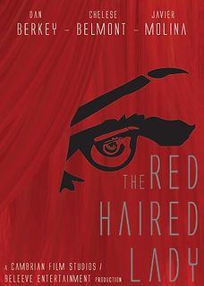The Red Haired lady poster in all red with a woman's eye above the title