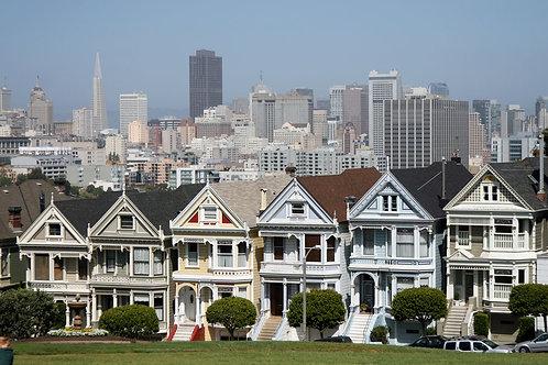 Victorian houses, SAN FRANSISCO