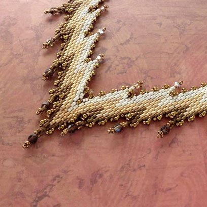 Flame Stitch Necklace