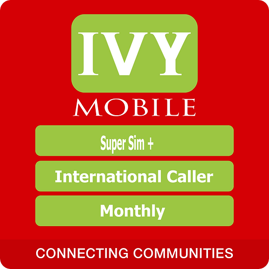 IvyMobile Super Sim+International Caller