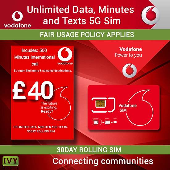 Unlimited Data Minutes and Texts with 500 Minutes international call