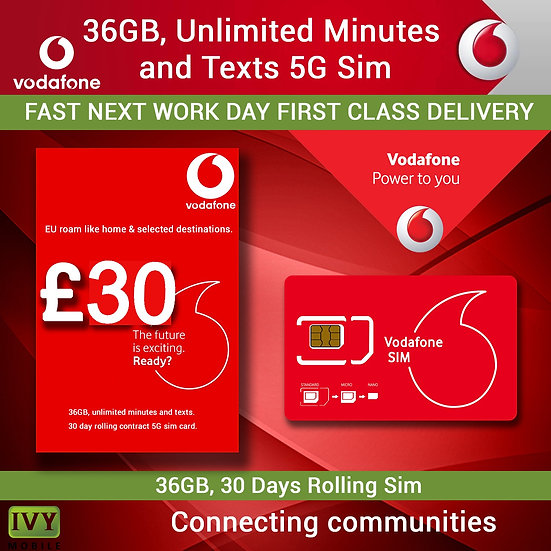 500 Minutes International Call to Nigeria, 36GB Data, Unlimited Minutes and Text