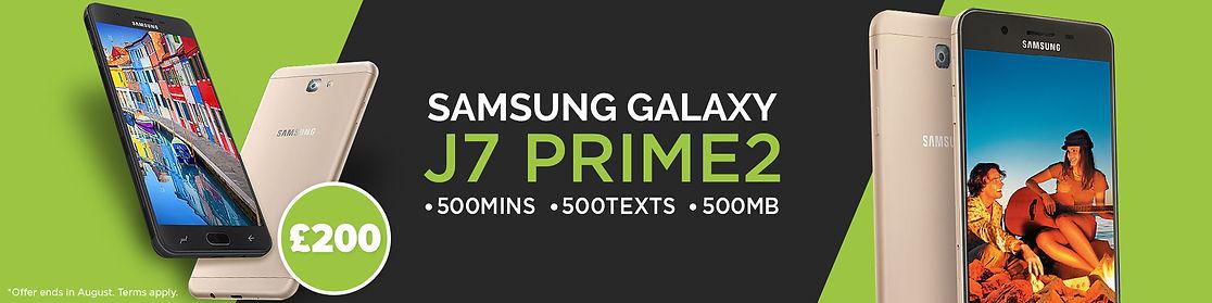 """<img alt=""""Samsung Galaxy J7 prime2, plus 500 minutes 500 texts 500Mb Std Sim"""