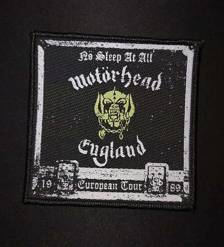 Motorhead European Tour Woven Patch