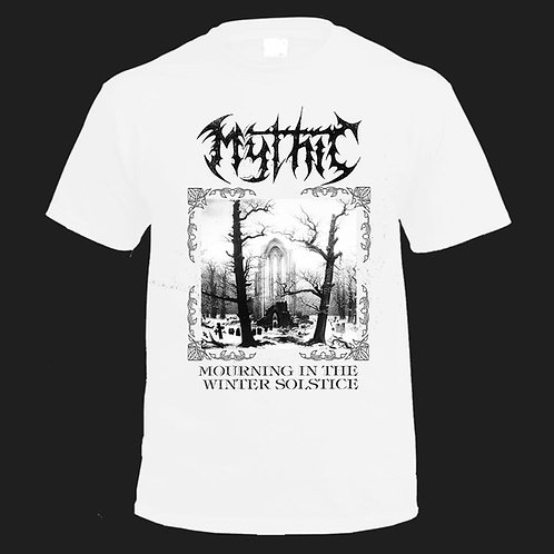 Mythic-Mourning In The Winter Solstice-White T-shirt Pre-sale