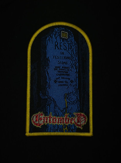 Entombed Woven Patch