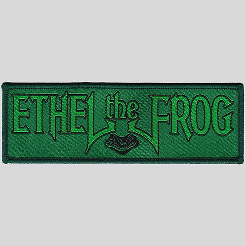 Ethel The Frog Woven Patch
