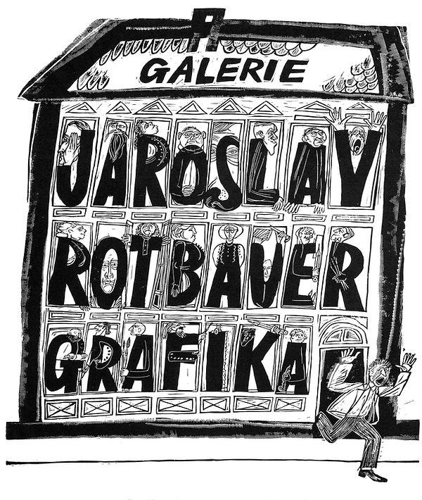 Jaroslav Rotbauer Woodcut Poster Art