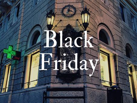 BLACK FRIDAY! Spedizioni gratuite sul nostro shop dal 25 al 30 Novembre