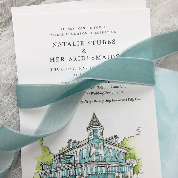 Custom New Orleans bridal shower invitation