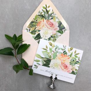 custom watercolor flower greeting cards