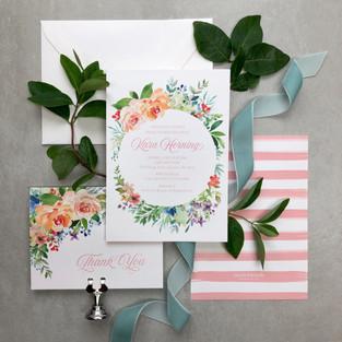 boho flower bridal shower invitation