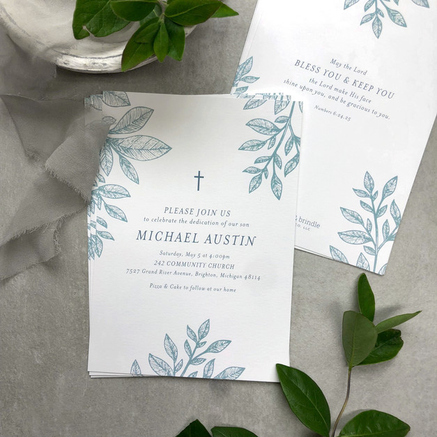 Custom baptism/dedication invitation