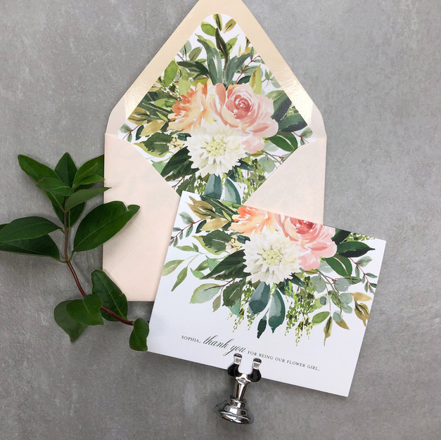 custom watercolor flower greeting cards