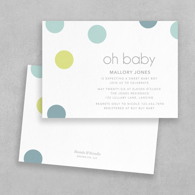 modern boy baby shower invitation