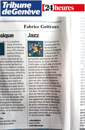 Tribune de Genève & 24 heures - Fabrice Gottraux