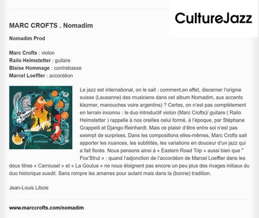 Culture Jazz - Jean Louis Libois