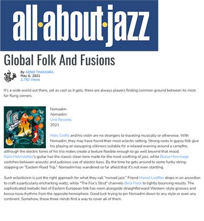 All About Jazz - Geno Thackara