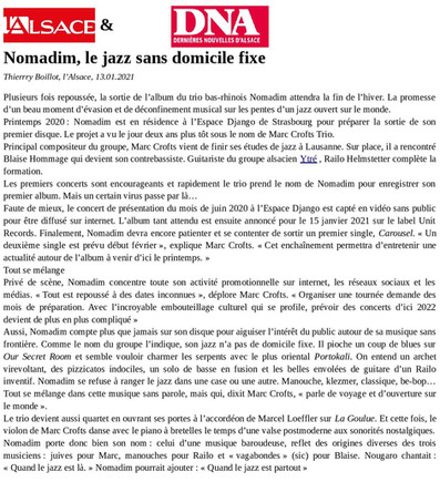 L'Alsace & DNA - Thierry Boillot