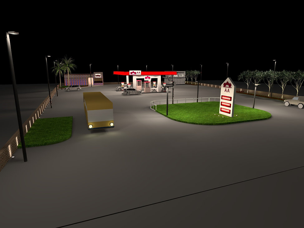 Petrol and Service Station Lighting 4 | Lux Cal