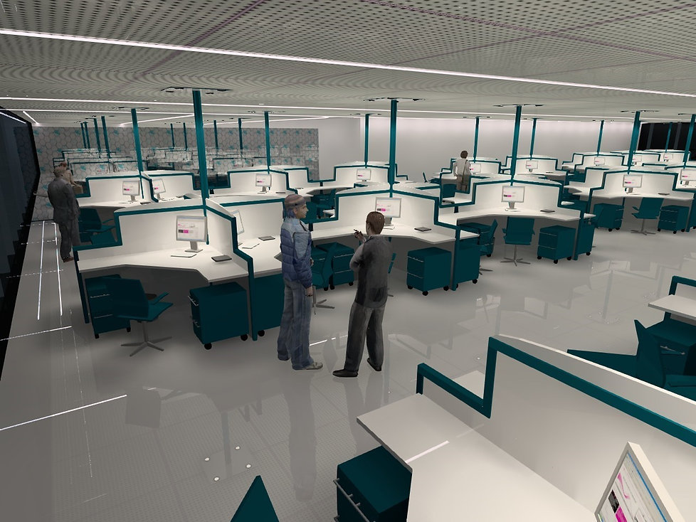 Open Plan Office Areas | Lux Cal