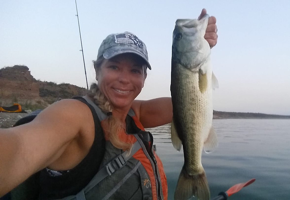 large mouth bass arizona fishing guide kayak fishing