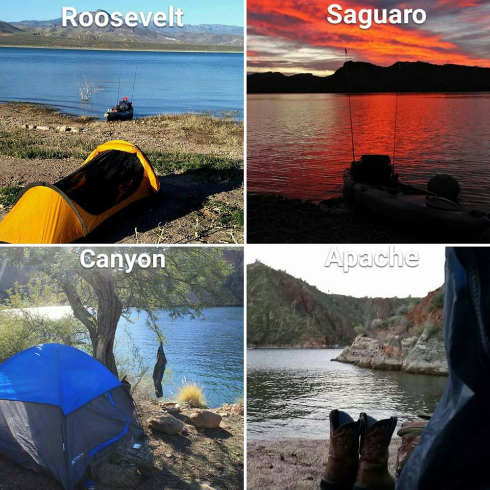 shoreline kayak camping tonto national forest roosevelt saguaro bartlett canyon apache lakes guide