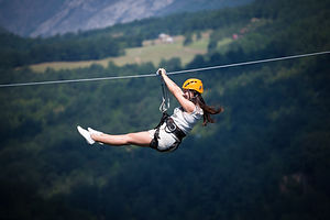 Woman on Zip Line