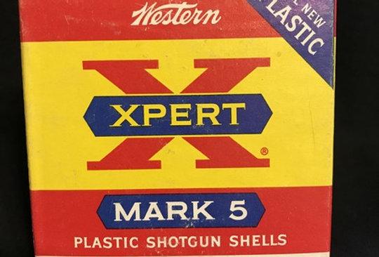 "Old Western XPERT X Mark 5 Vintage Shot Shell Box 20 Ga 2 3/4"" 7.5 Shot Decor"