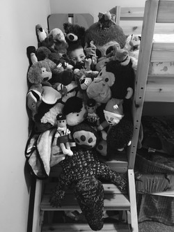Clayton Loves His Stuffies