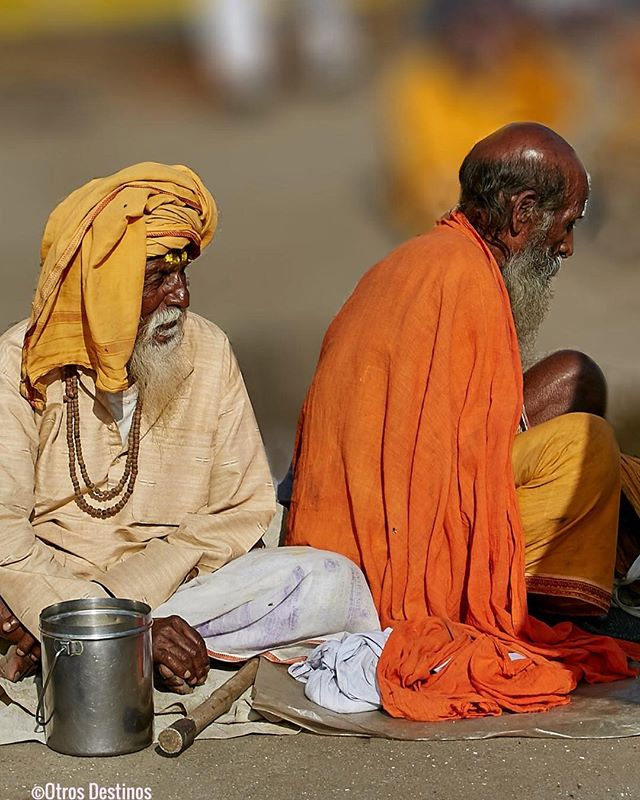 Ascetas en el Kumbh Mela en Nasik