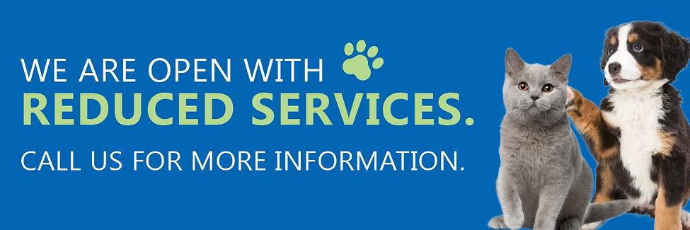 Lincoln Vet Centre Reduced Services Web