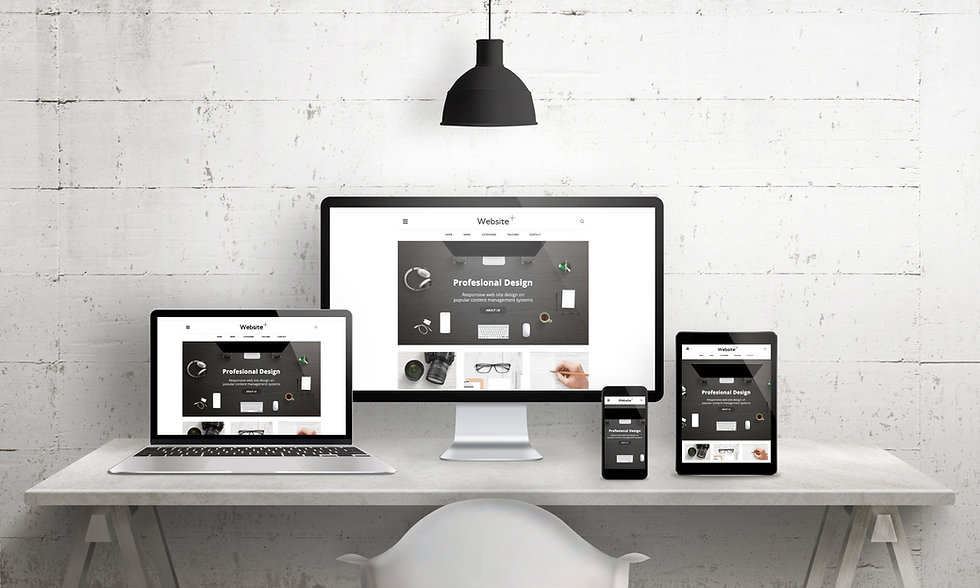 Creative desK scene for web design agency