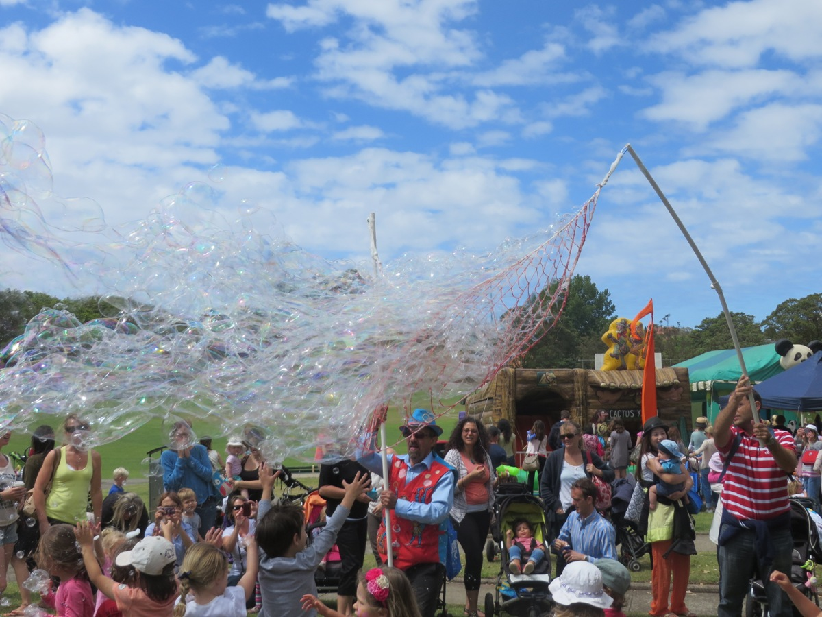 Giant Bubble Party Photos