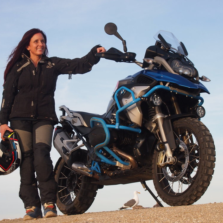 The woman (only) Motorcycle Foundation training