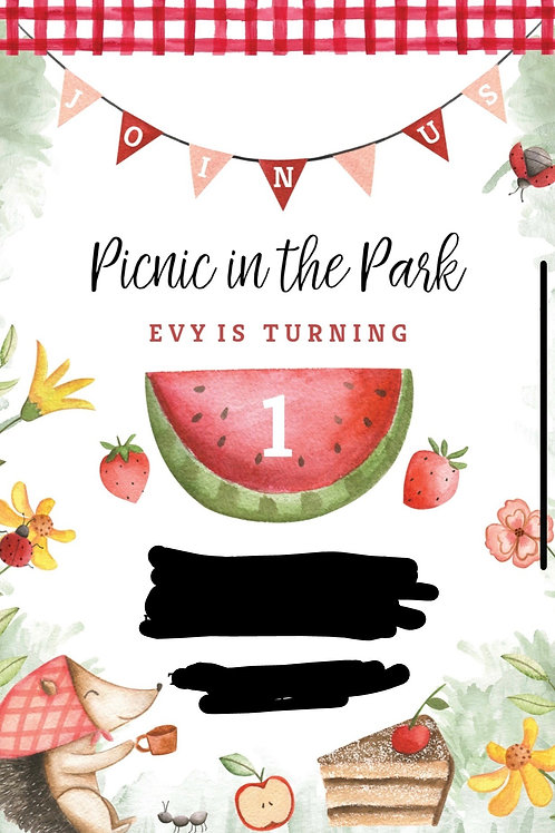2 dz Picnic cookies to match invitation