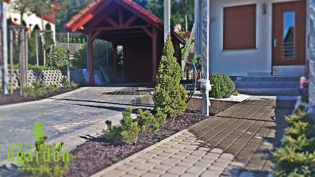 Ogród w Gdańsku część wjazdowa