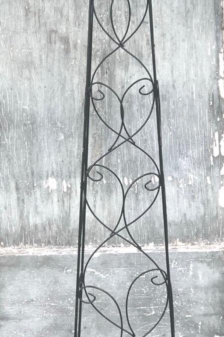 Med black  obelisk trellis