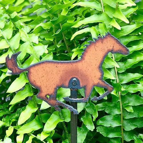 Sm. Iron horse garden stake