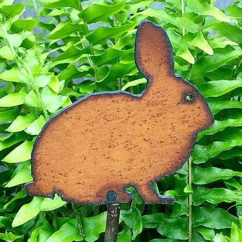 Sm. Iron bunny garden stake