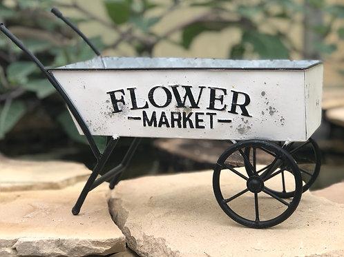 Metal flower market cart
