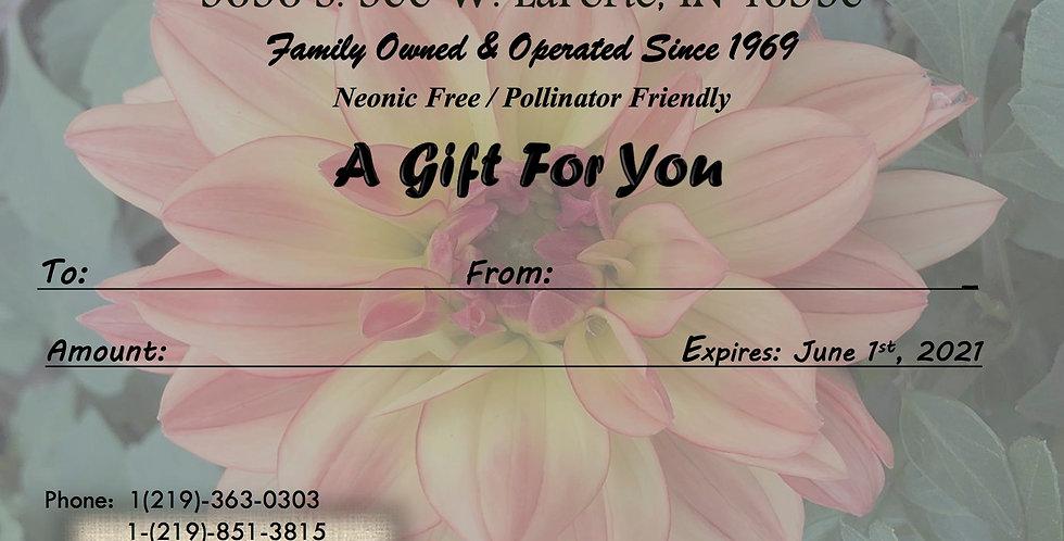 Gift Card (Dahlia Theme)