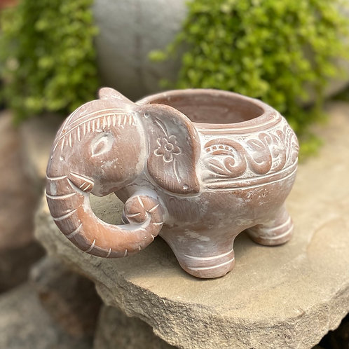 Terra cotta Elephant planter